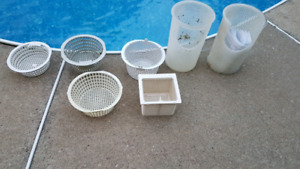 Pool Skimmer Pump Baskets Panier Écumeur Ecumoire Pompe Piscine