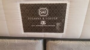 King size mattress with box and frame - very lightly used