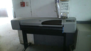 hp designjet 800 42 inch inkjet plotter includes stand also have