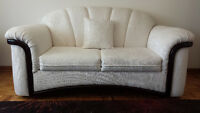 White Love Seat and Chair Set