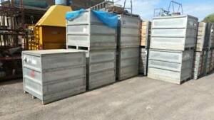 Stillages heavy duty solid sides lid galvanized storage case box