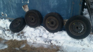 All-season tires on rims 5×100