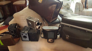 VTG Collector's STAFF FOR SALE -LAMPS,CROCKS,CAMERAS,SLED AND MO