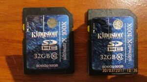 Two Class 10 32 GB SD Cards