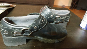 Leather HD Woman's Clogs