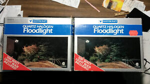 2 Still-In-Box Mastercraft Quartz Halogen Floodlights