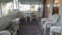 A  vendre maison mobile Davie , Floride , terrain en location