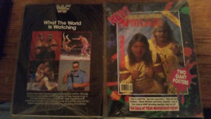 Vintage WWF Superstars Magazines