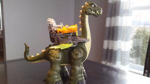 Dinosaure marchant et bruyant
