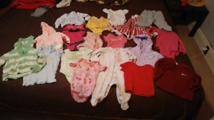 Baby girl lot size 0-12 months