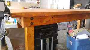 Rustic large Work Table or Kitchen Country Table.