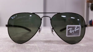 Ray Ban Aviator Carbon Fibre Polarized Sunglasses