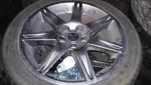 Winter tire package  mitsubishi with sensors 235/45/18 Strathcona County Edmonton Area image 3