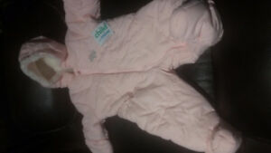 Snow suite for Baby girl size 3-6