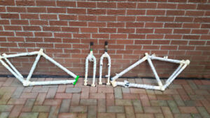 mountain bike frames and forks only $25 each set Old school