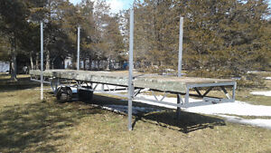Steel constructed dock