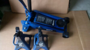 3 Ton Automotive Floor Jack and Jack Stands - USED ONCE-Like New