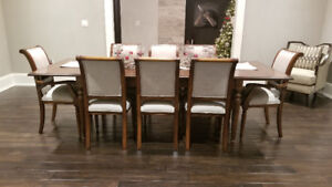 Beautiful Custom Made Solid Wood Maple Dining Table And Chairs
