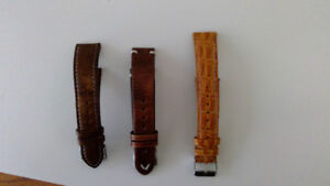 Vintage 20 mm leather straps (brown and tan)
