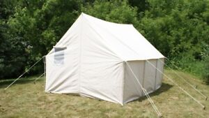 9x10 canvas wall tent