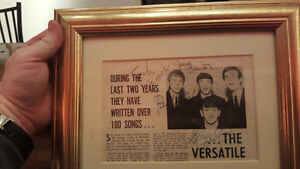 THE BEATLES -MAGAZINE PAGE - SIGNED by ALL 4 & Authenticated! Peterborough Peterborough Area image 1