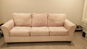 Comfy Suede Couch!