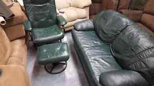 Excellent condition loveseat and swivel chair with footrest.