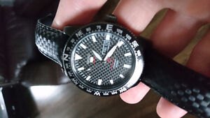 Mint new sieko 5 sport carbon automatic watch
