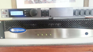 Crown Audio Amplifers and DBX ZonePro 640m controller