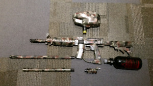 Paintball BFG AR marker and gear
