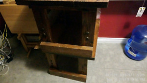Two vintage end tables