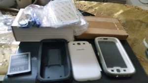 3 cases ,  screen and kit for s3