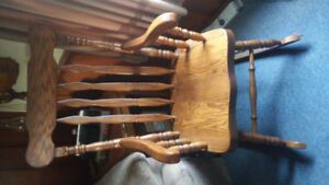 Solid oak rocking chair $600 new