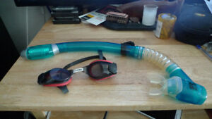 Swim Diving Scuba Speedo Goggles Mask and Snorkel .