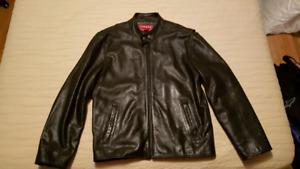 Mens heavy leather jacket