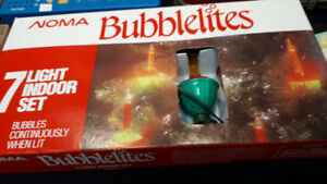 Rare Vintage Noma Christmas Tree Bubble Lights