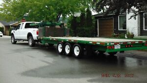 Flat Deck 5th wheel Tri-axle Prince George British Columbia image 4