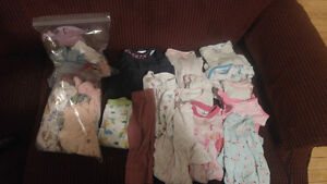 Assorted baby girl clothing