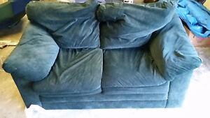 Faux Suede Loveseat