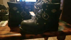 Womens Harley Davidson leather boots