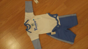 2 Baby Boy Outfit - 0-3 months