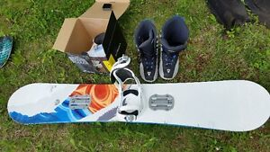Snowboard and boots/bindings