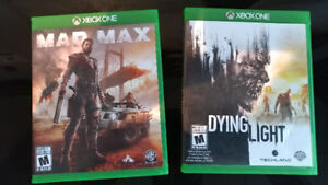 Mad max et Dying Light Xbox One