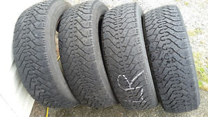 P205/55R16  set of 4 Goodyear Nordic M+S winter tires
