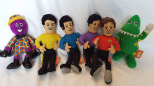 The Wiggles Dolls Lot of Six Preloved