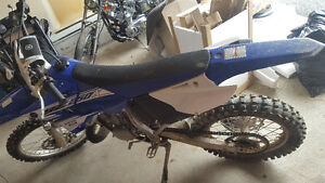 New yz 250 2 stroke only a tank of gas burned