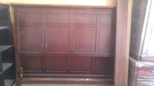 5 piece mahogany bedroom set. King.