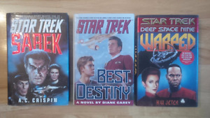 Three Star Trek Novels (HB) - all for one price - $12