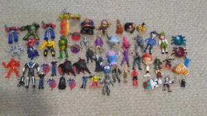 Large lot of 56 Toys and Action Figures