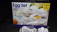 As seen on TV- 5 piece Egg set Perfect to use for preparing eggs